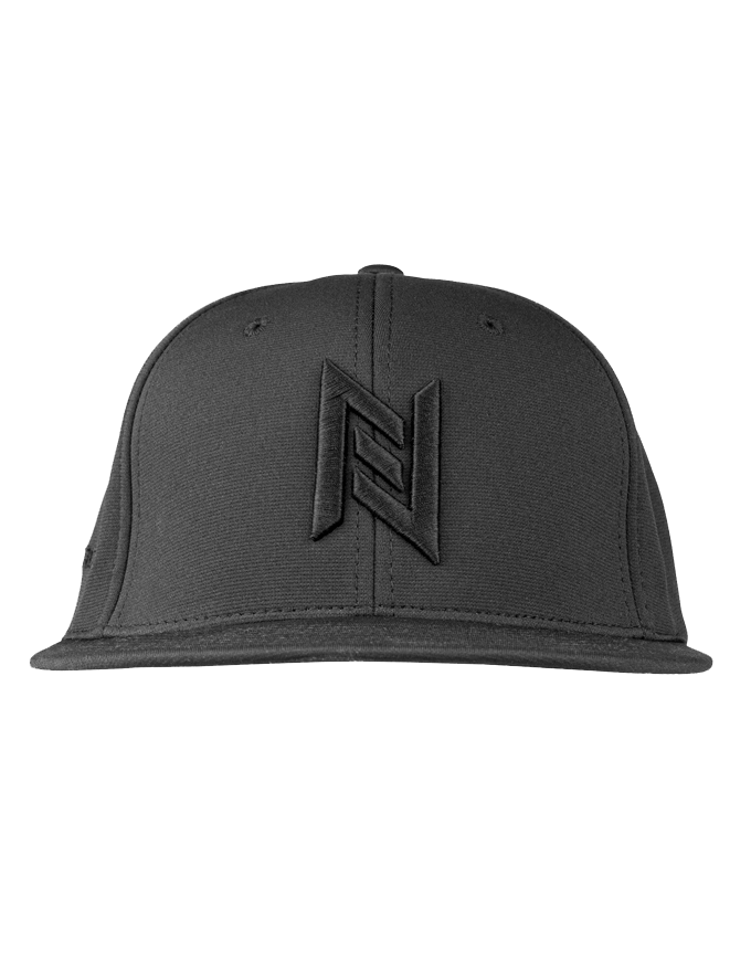 N8 Tactical Fitted Pitch Black Hat - Front 2