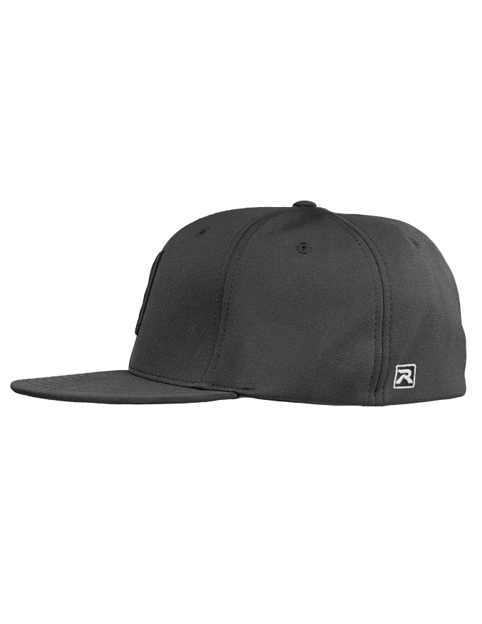 N8 Tactical Fitted Pitch Black Hat - Left Side